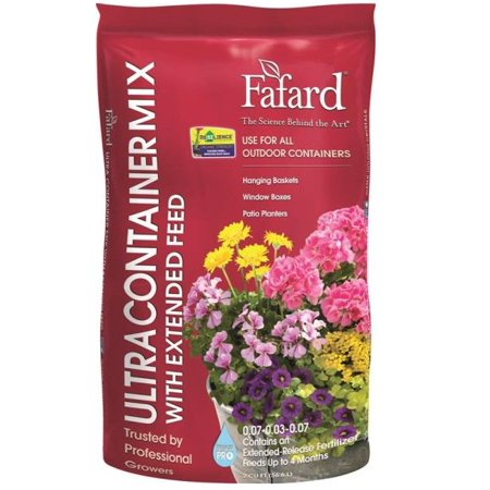 sun gro Fafard 4005206 Ultra Container Mix with Extended Feed, Brown/White, Flecks Grain, 40 Bag