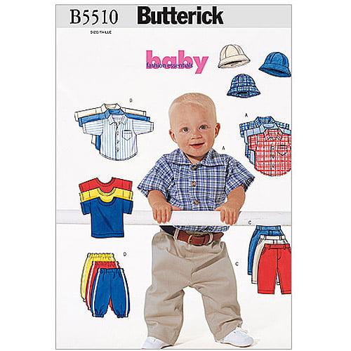 Butterick Pattern Infants' Shirt, T, Shirt, Pants and Hat, (L, XL)