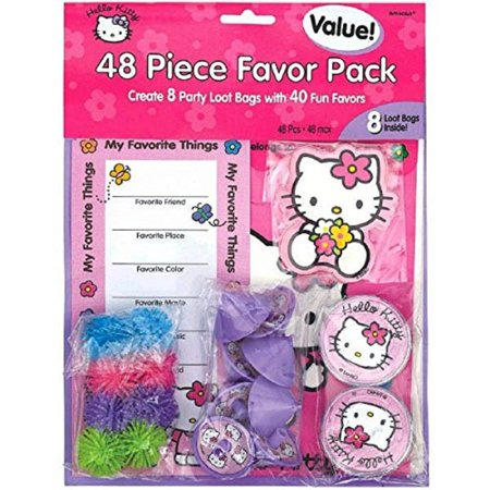 Party Favors - Hello Kitty - Value Pack - 48pc - Hello Kitty Party Supplies Party City