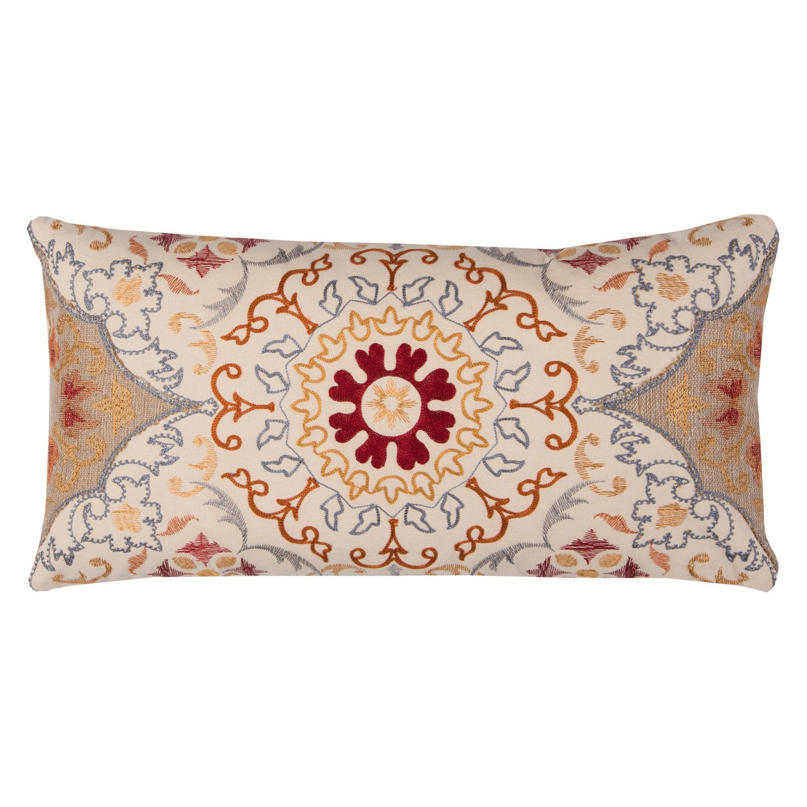 """Rizzy Home Decorative Poly Filled Throw Pillow Medallion 11""""X21"""" Natural"""