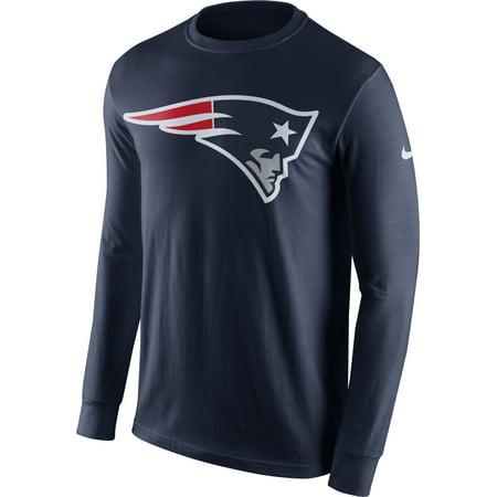 Nike Men's New England Patriots Logo Navy Long Sleeve Shirt