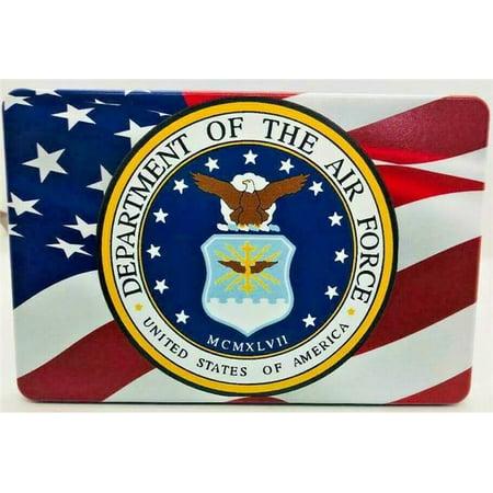 HMC HMC-TH-AMERFLGAIRFORCE-3x5-UV 3 x 5 in. American Air Force Flag UV Resistant Trailer Hitch Cover (Ibm Hmc)
