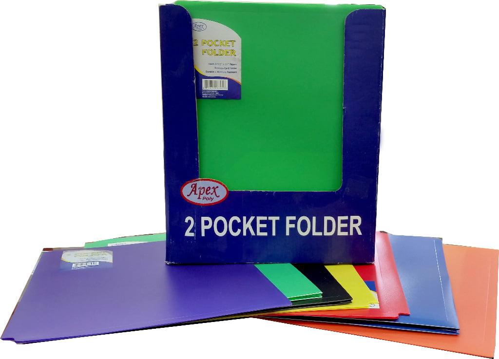Premium Plastic 2 Pocket Folder with Prongs Case Pack 48 Ideal for Bulk Buyers. 9.5 x 11.5