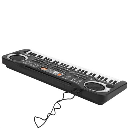 icoco 61 Key Children's Digital Keyboard Music Piano Keyboard On Sale for Adults Or Kids Beginners Electronic W/Mic Organ on Clearance, black and white - image 2 de 12