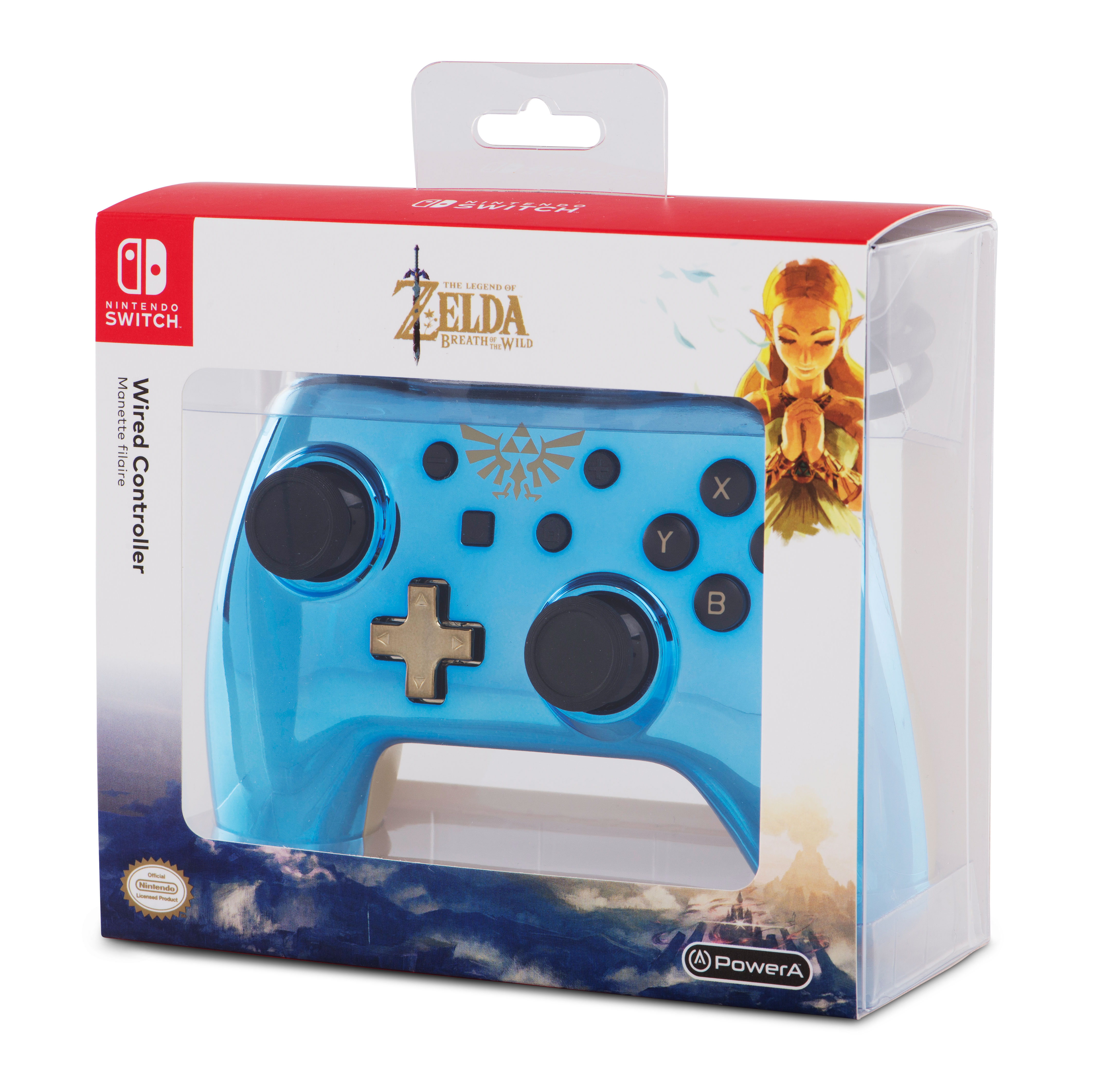 PowerA Nintendo Switch, Wired Controller, Chrome Zelda, 1506371-01