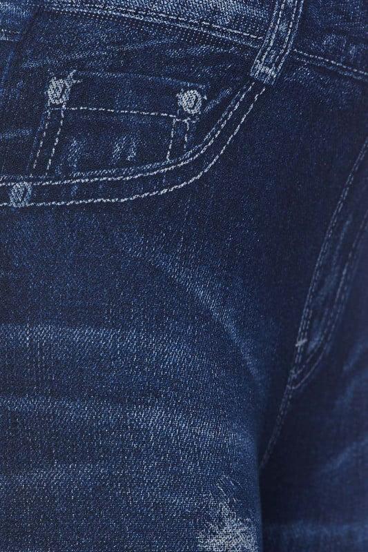Juniors' Leggings Celebrity High Waist Washed Destroyed Denim Print Leggings Pockets One Size