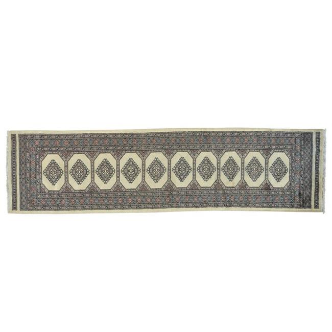 Rugs sh22894 3 x 10 ft. Runner 100% Wool Ivory Bokara Han...