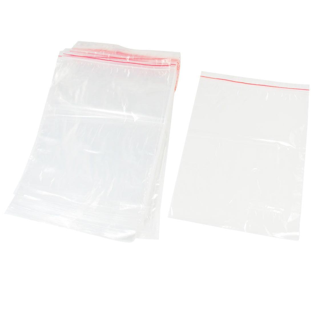 Unique Bargains 100 Pcs 26 x 18cm Supermarket Storage Clear Grip Seal Bags