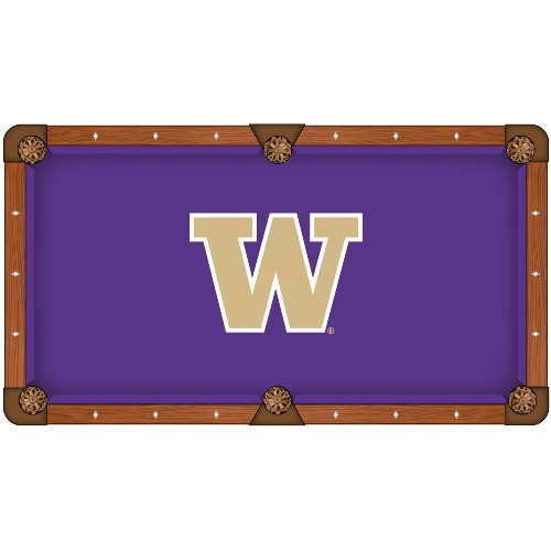 NCAA 8' Pool Table Cloth by Holland Bar Stool - Washington Huskies