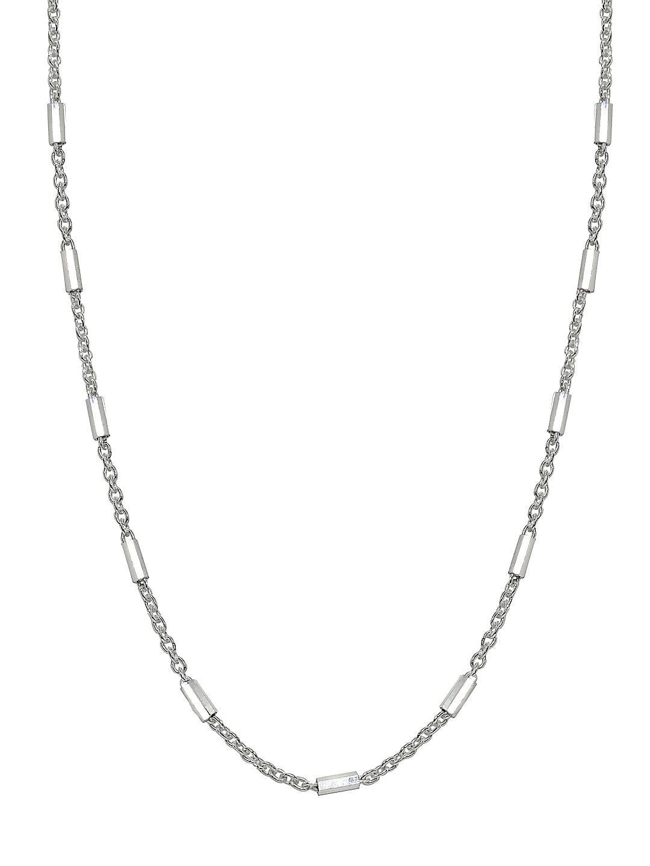 Bar Sterling Silver Station Necklace