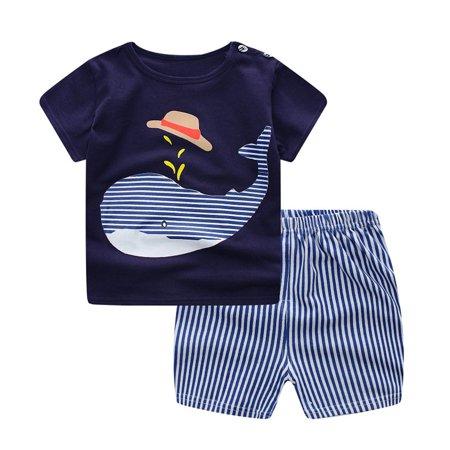 Summer Children'S Short-Sleeved Suit Boys And Girls Cotton Short Two-Pcs Suit - image 5 de 5