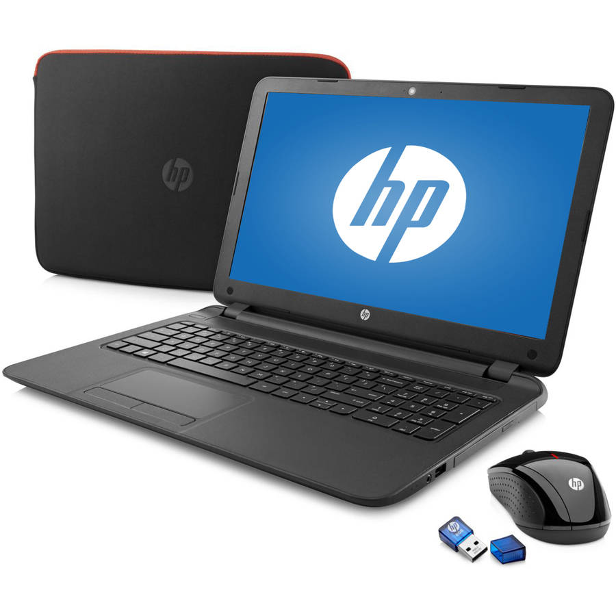 "Refurbished HP Black 15.6"" 15-f085wm Laptop PC Bundle with AMD Quad-Core A4-5000 APU Processor, 4GB Memory, touch screen, 500GB Hard Drive and Windows 8.1  (Eligible for Windows 10 upgrade)"