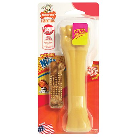 Nylabone Essentials Power Dog Chew, Peanut Butter, Extra Large