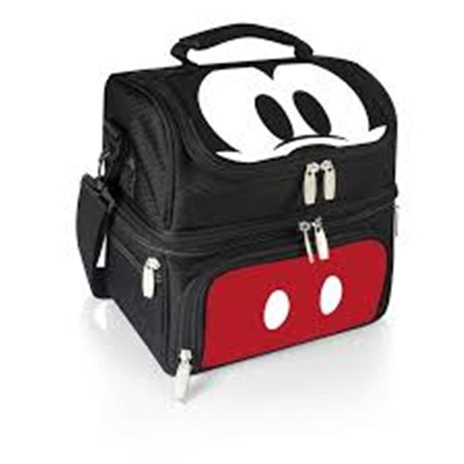 ONIVA 532-59-205-011-11 Mickey Mouse Picnic Backpack - Black & White Mickey Print with Brown Leatherette