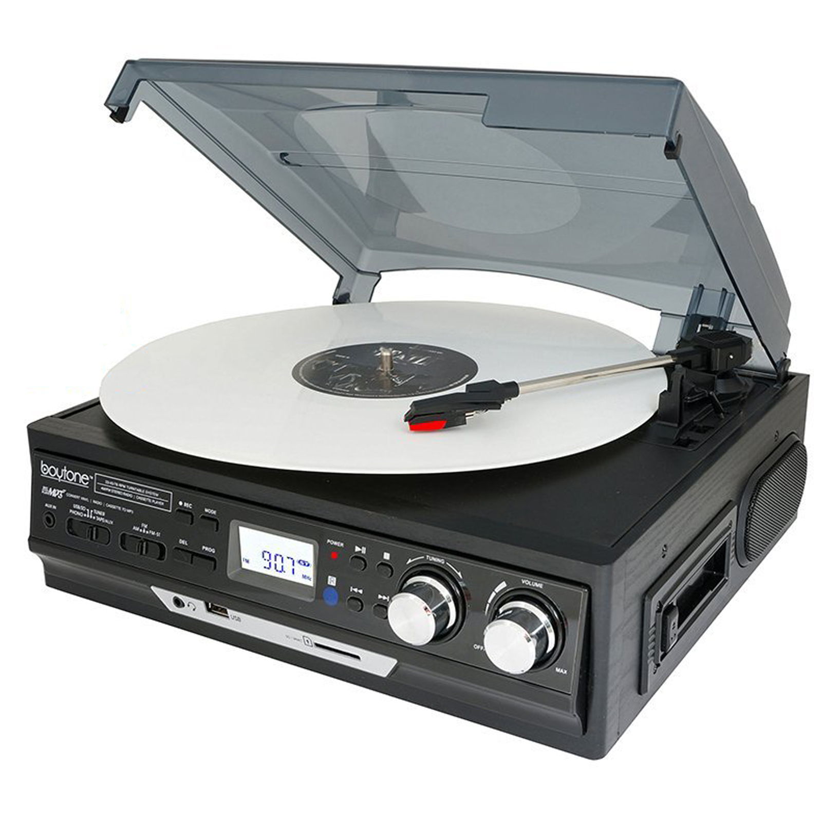 37-Series Black Home BT Turntable System BT-37B-C