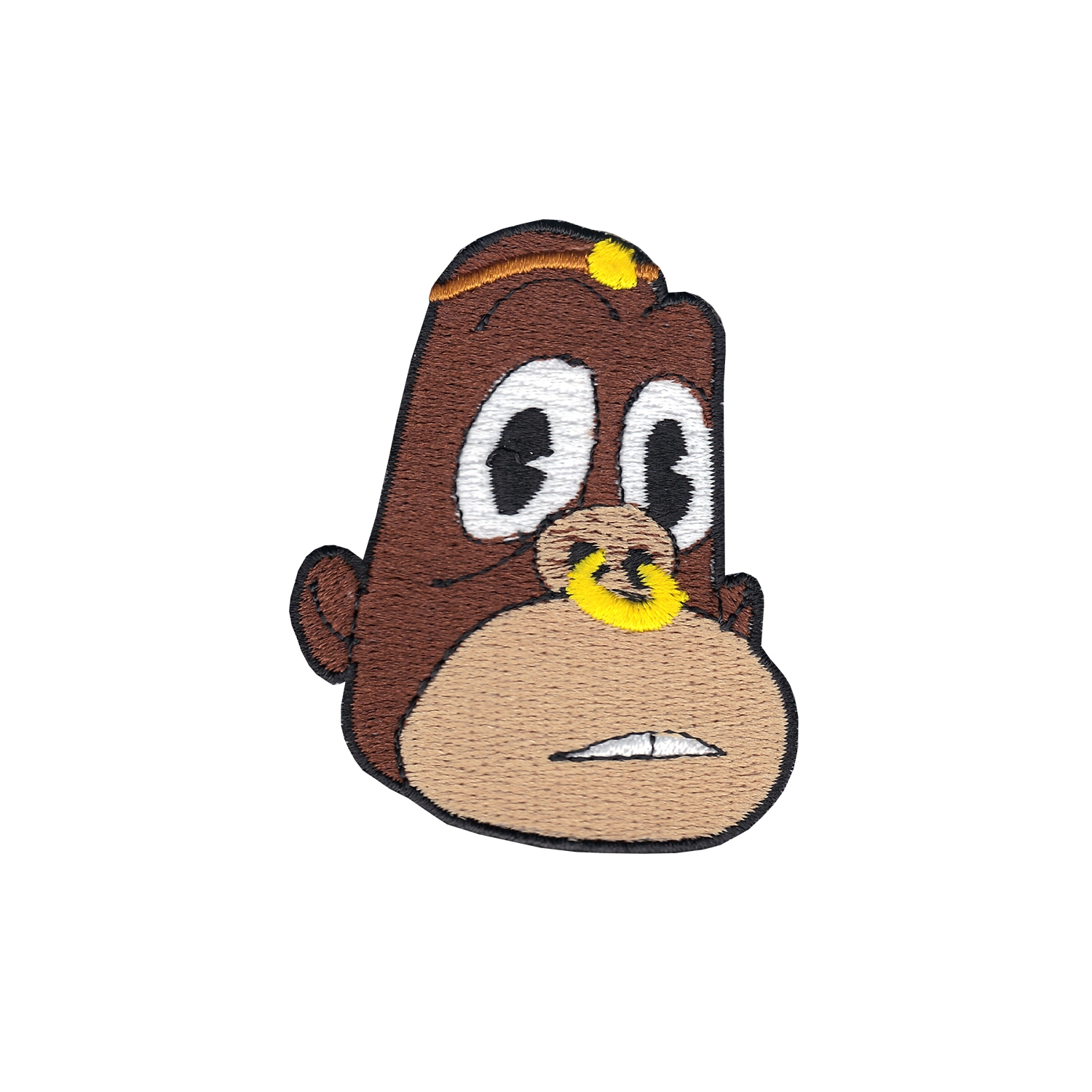 The Story Of O.J Dark Skin Jay Bo Head Iron On Applique Patch