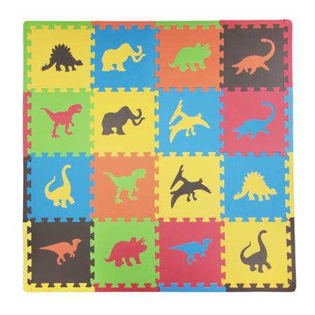 Tadpoles Dinosaurs Foam Play Mat Set, 16 Pieces (Foam Playmat)