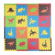 Tadpoles Dinosaurs Foam Play Mat Set, 16 Pieces
