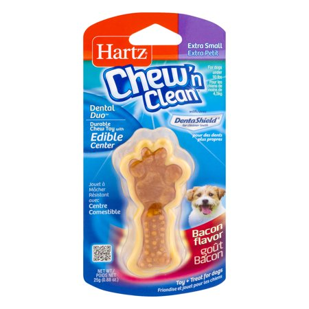 Hartz Chew N Clean Extra Small Dog Treat Bacon  0 88 Oz