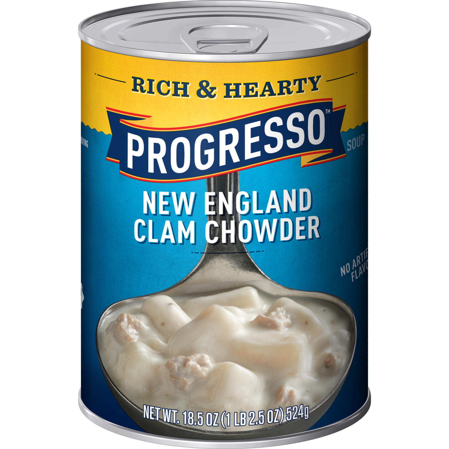 Progresso Soup Rich & Hearty New England Clam Chowder Soup 18.5 oz