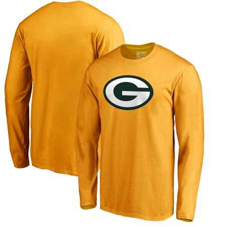 Nfl Logo Edge Light - Green Bay Packers NFL Pro Line by Fanatics Branded Primary Logo Long-Sleeve T-Shirt - Gold