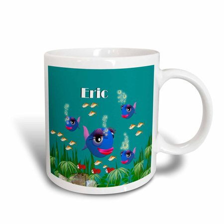3dRose This vibrant artwork of Fish under the sea is personalized with the name Eric, Ceramic Mug, 11-ounce](Under The Sea Items)