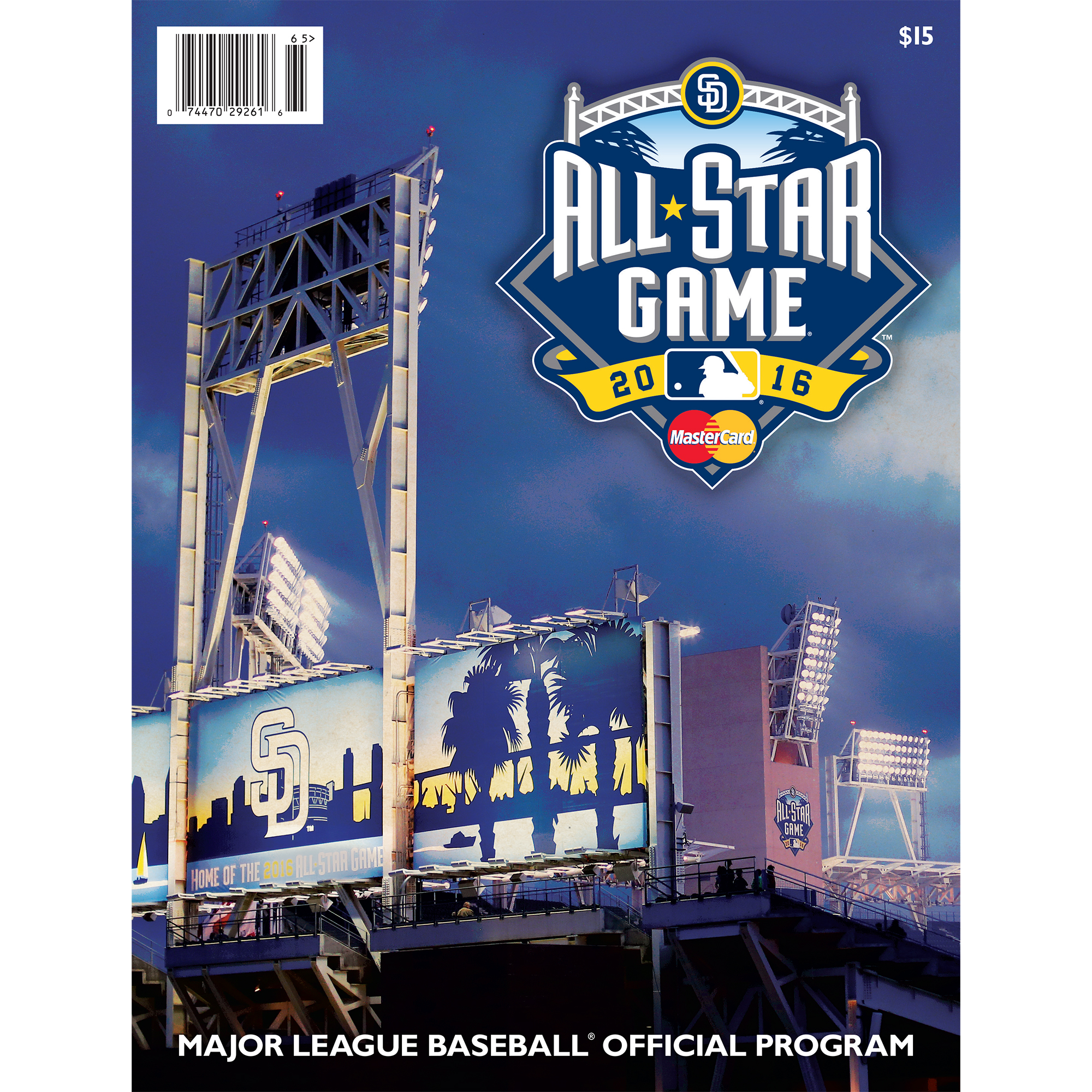 San Diego Padres 2016 MLB All-Star Game Program - No Size