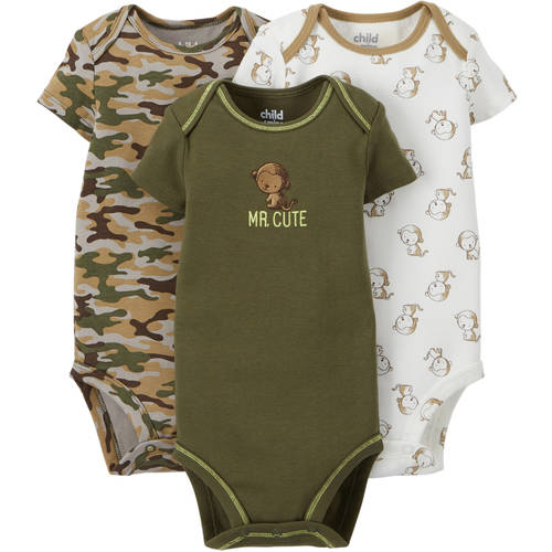 Child Of Mine By Carter's Newborn Baby Boy Bodysuit, 3 Pack