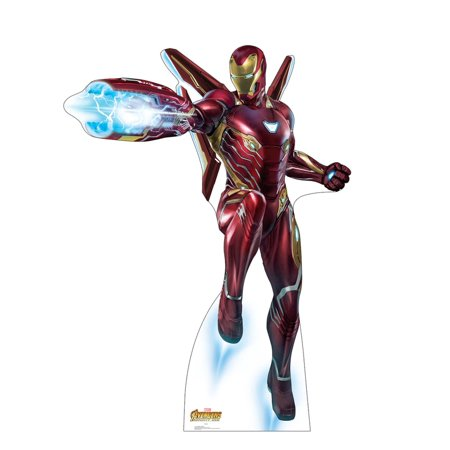 Iron Man Blaster - Avengers Infinity War Cardboard Cutout Life Size Party Prop Decor Birthday Party Supplies Size - 76