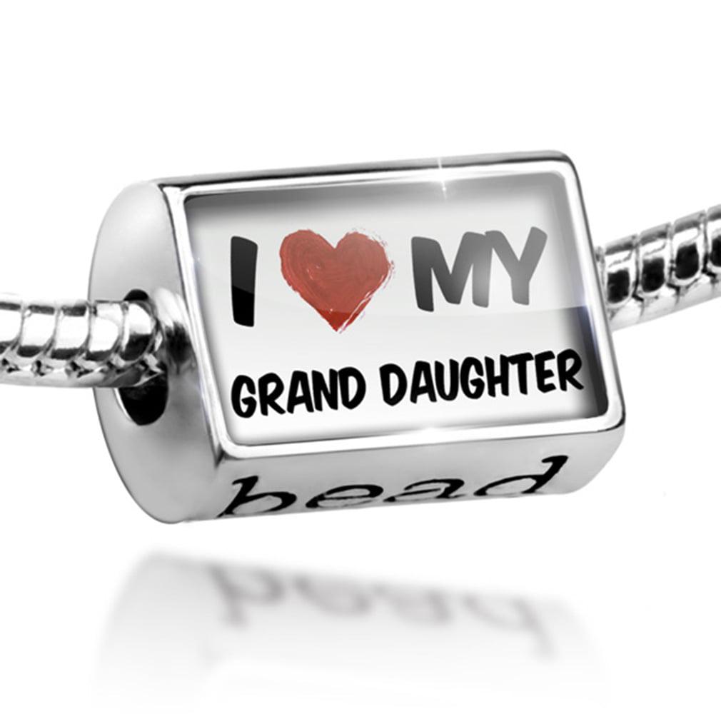 Bead I Love my Grand Daughter Charm Fits All European Bracelets