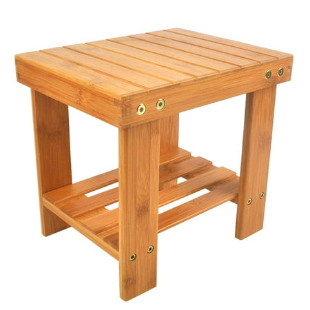 Children Bench Stool Bamboo Wood Color Kitchen Bedroom Kids Learning Dining Small Chairs ()