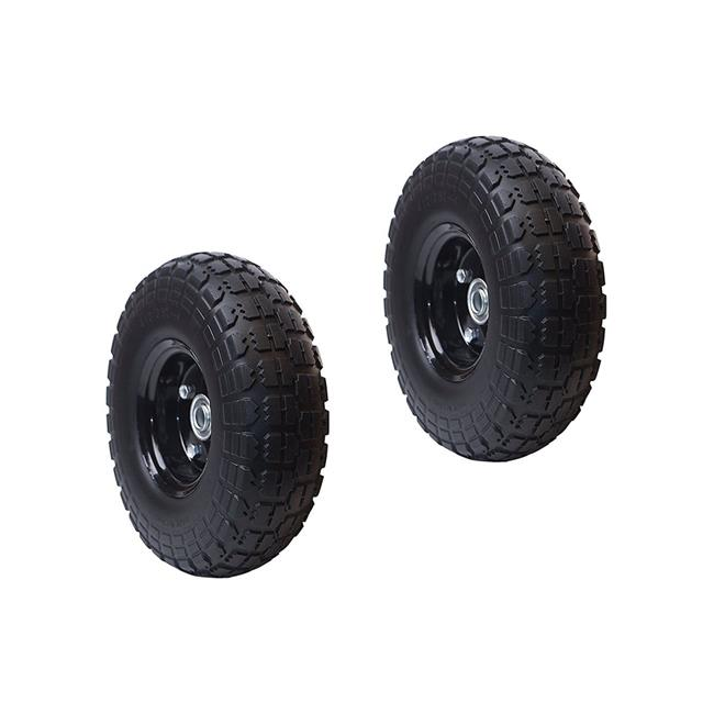 Aleko 2WNF10-UNB 10 in. Flat Free Replacement Wheels for Wheelbarrow - Pack of 2 - image 1 of 1