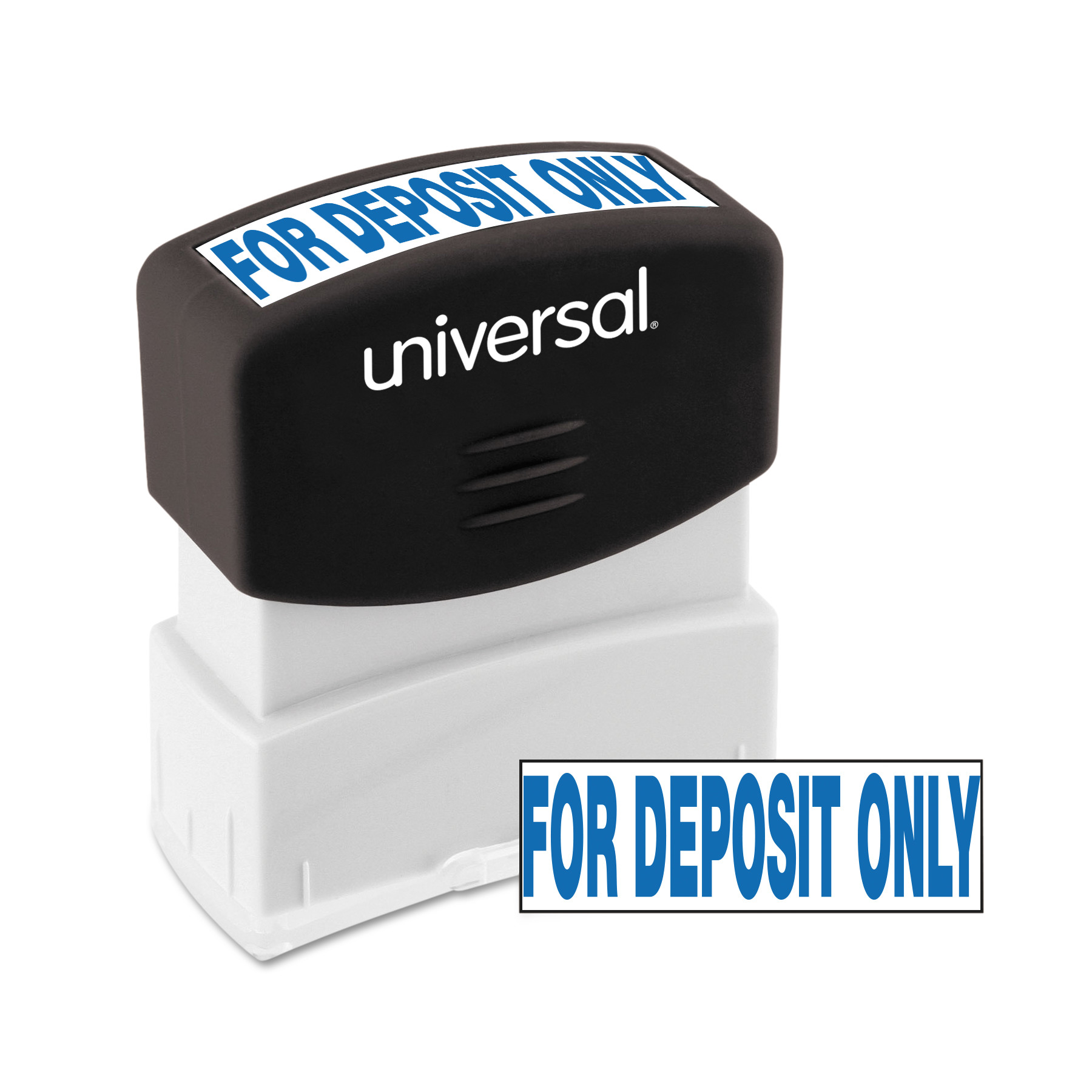 Universal Message Stamp, for DEPOSIT ONLY, Pre-Inked One-Color, Blue