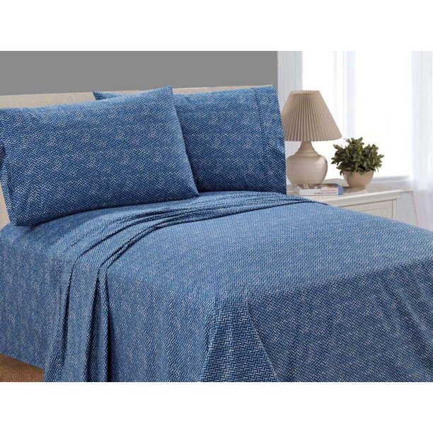 Mainstays 100 Cotton Percale 200 Thread Count Sheet Set Queen Walmart Com Walmart Com