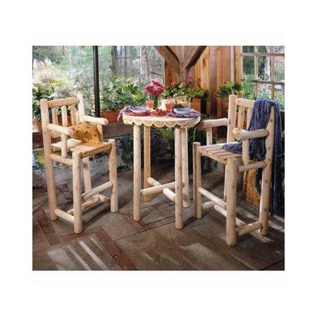 Rustic Natural Cedar Furniture Outdoor Bistro Set