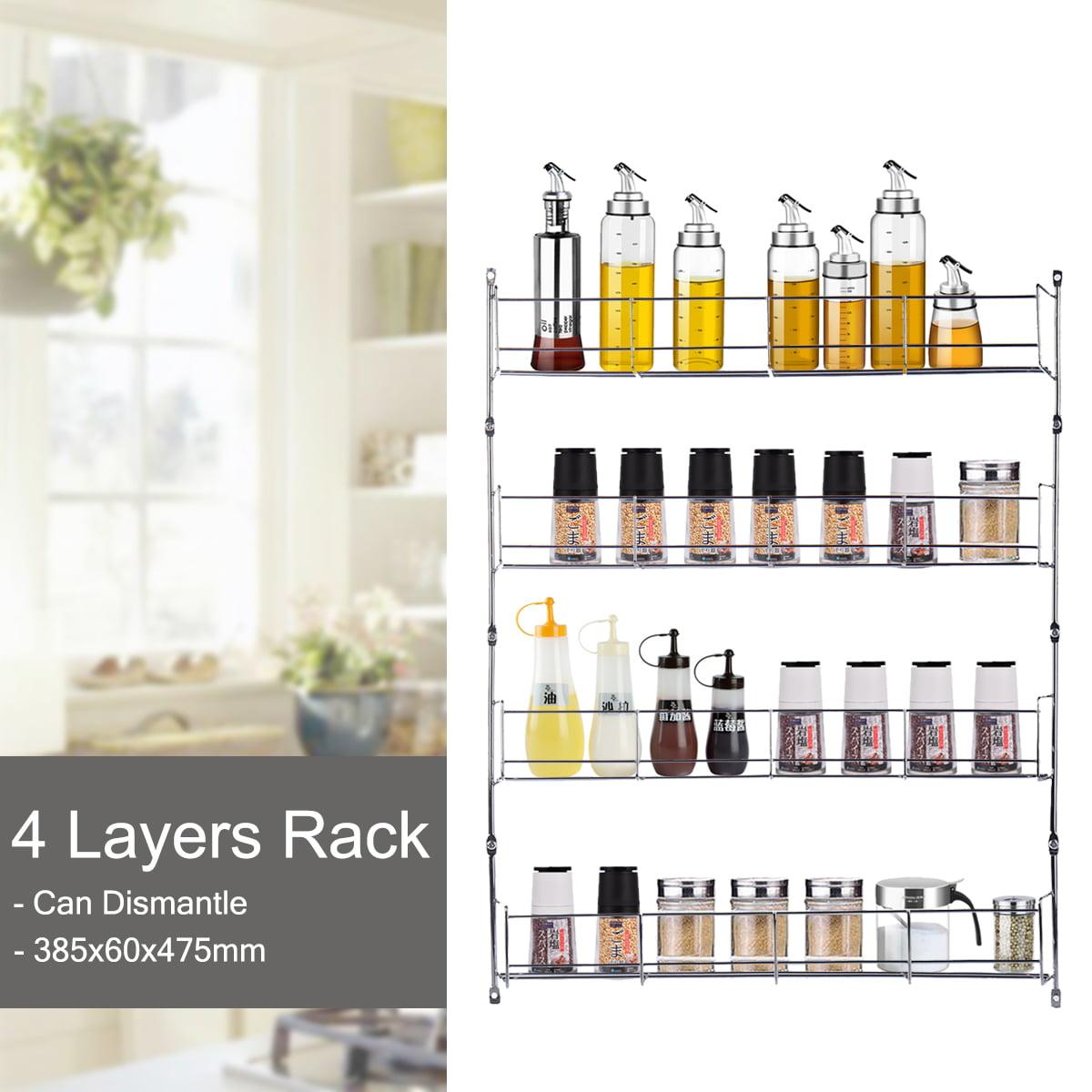 3 4 5 6 Tier Kitchen Door Wall Mounted Storage Rack