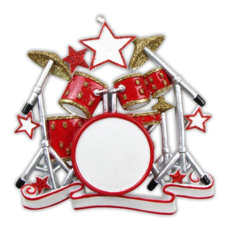 - Scholl Orchestra Music Band Drum Set Personalized Christmas Ornament DO-IT-YOURSELF