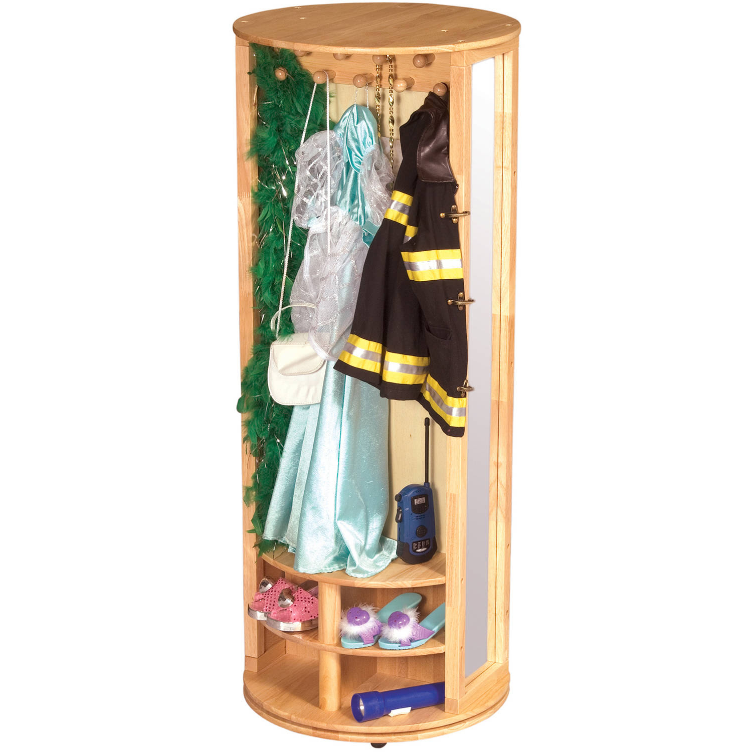 Guidecraft Dress Up Carousel, Natural