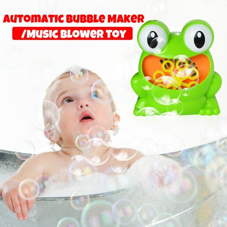 Bubble Machine Automatic Bubble Blower Fro g Bubble Maker Toys Over 500 Bubbles Per Minute for Kids Gift Parties Wedding, Battery Operated](Fog Bubble Machine)