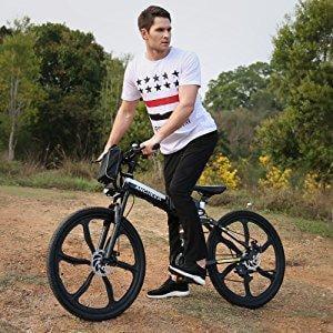 "26""Foldable Electric Mountain Bike Bicycle Ebike W/Lithium Battery 250W 36V USA"