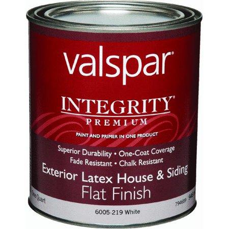 valspar integrity latex paint and primer flat exterior house paint. Black Bedroom Furniture Sets. Home Design Ideas