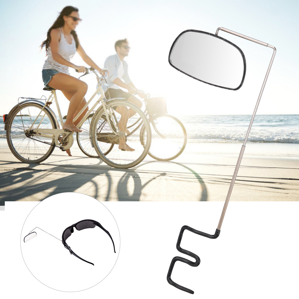 Adjustable Cycling Bike Bicycle Bike Helmet Reflector Rear View Safety Mirror GG