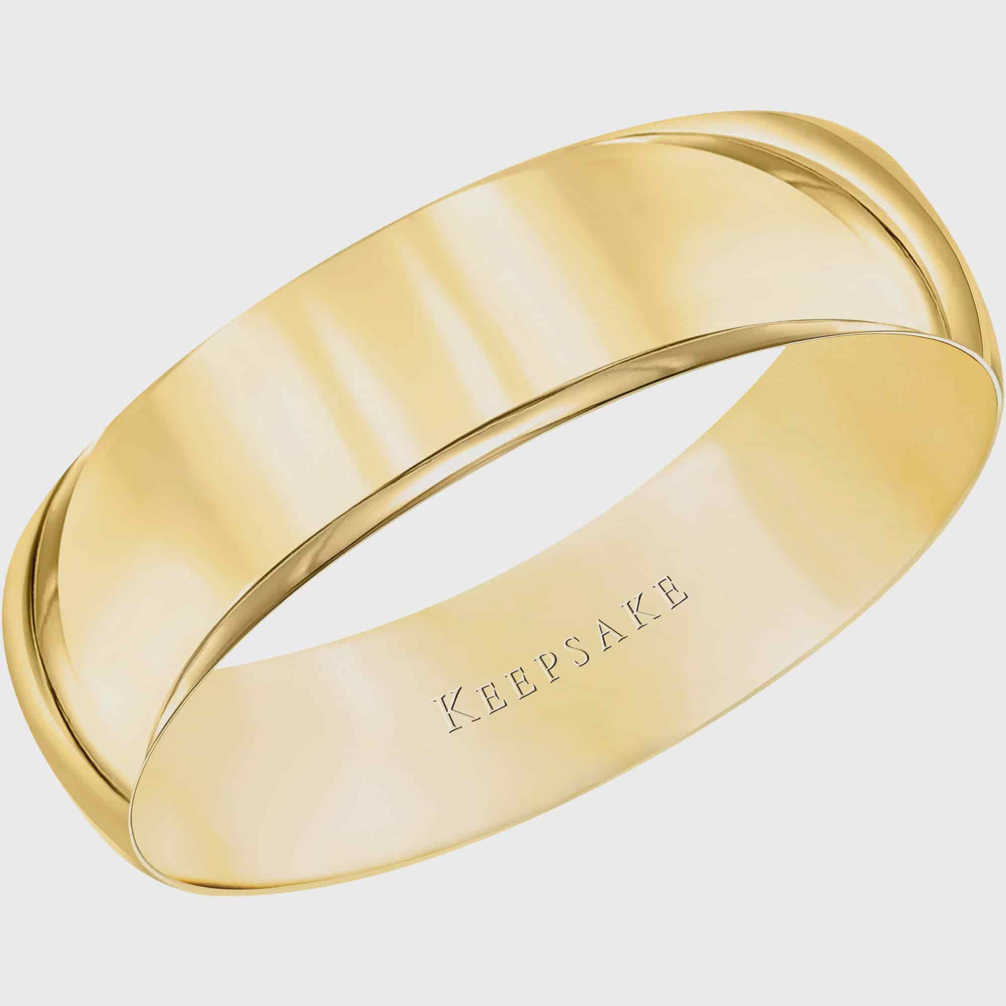 Keepsake 10kt Yellow Gold Wedding Band With HighPolish Finish