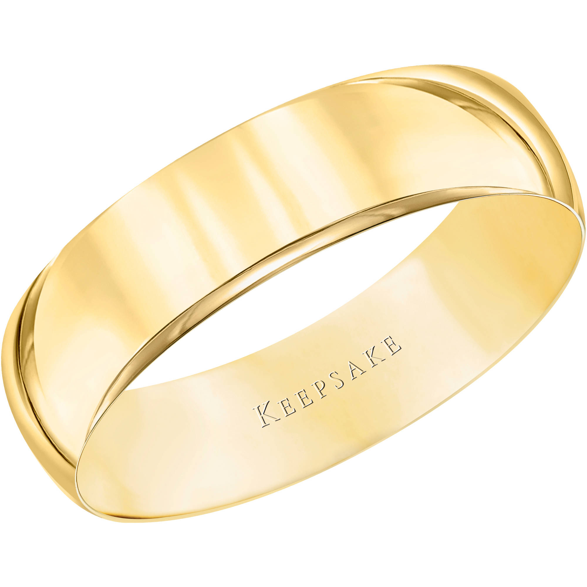 Keepsake 10kt Yellow Gold Wedding Band With High Polish Finish, 5mm    Walmart.com