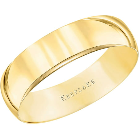 Keepsake 10kt yellow gold wedding band with high polish finish 5mm keepsake 10kt yellow gold wedding band with high polish finish 5mm junglespirit Choice Image