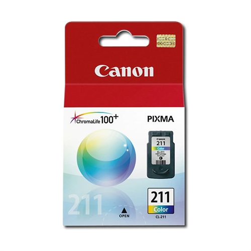 Canon CL-211 Color Ink Cartridge For PIXMA MP240 and MP480 Printers 2976B001
