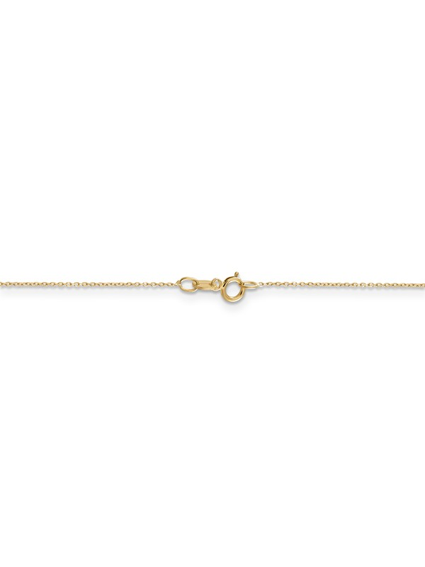 14k Yellow Gold 0.95mm Cable Chain Necklace 14inch