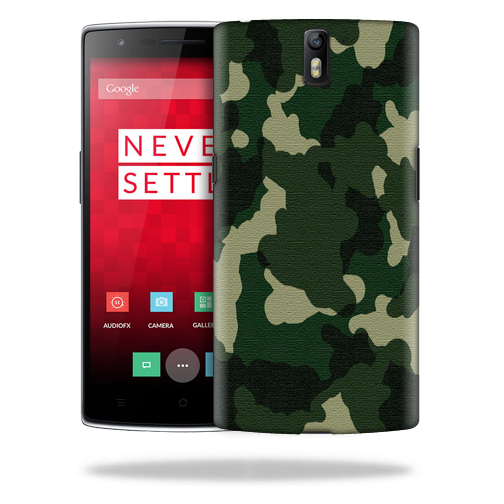 MightySkins Snap-On Protective Hard Case Cover for OnePlus One Case Green Camo