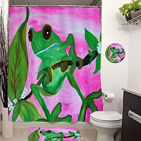 Sassy Frog Shower Curtain