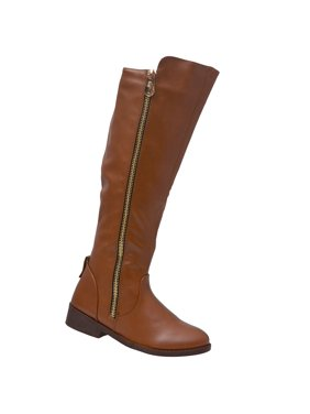 ad81621d776e6b Product Image Weeboo Adult Brown Side Zipper Closure Tall Hi-Low Trendy  Boots